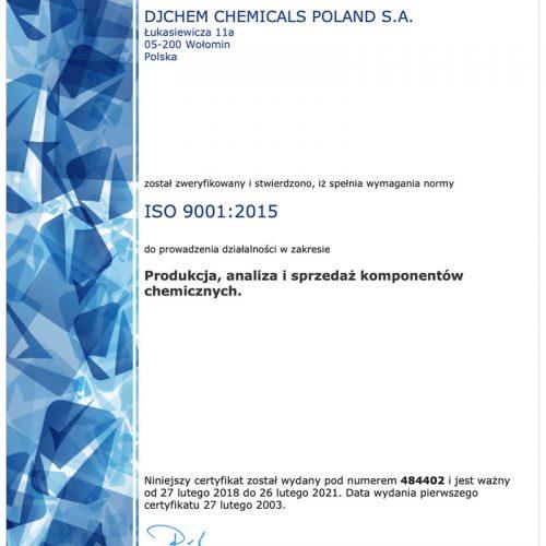 Certyfikat ISO 14001